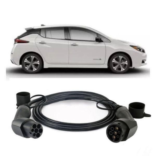 Nissan Leaf 2019 EV Charging Cable 600x600 - Nissan Leaf Charging Cable (2018) - EV Cable Shop