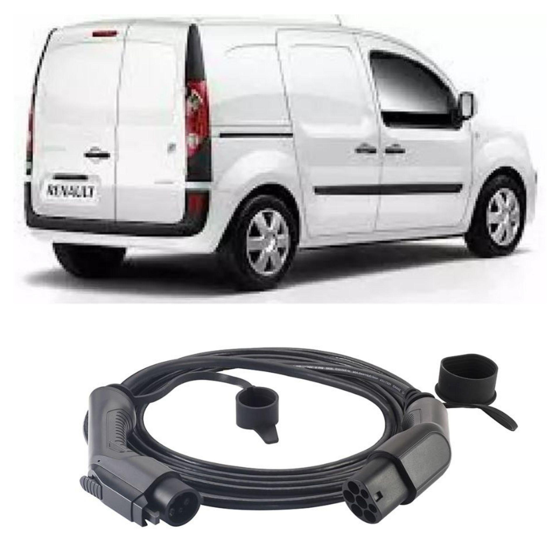 phase 1 Type 2 to Type 1 Renault Kangoo ZE EV Charging Cable 16amp 5m Case