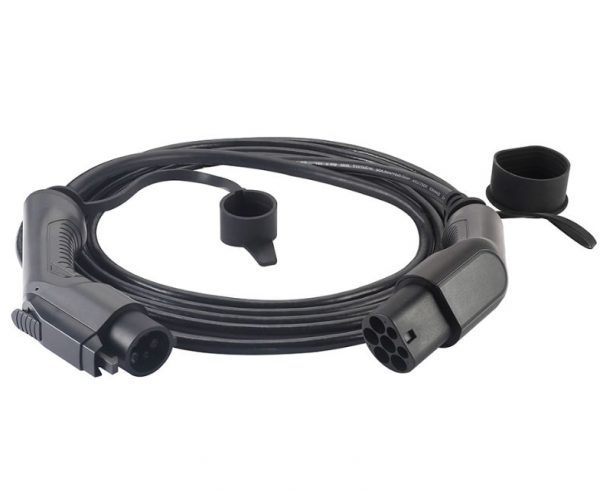 Type 1 Black Charging Cable e1561655800956 600x491 - Honda Clarity (Plug-in Hybrid) Charging Cable - EV Cable Shop