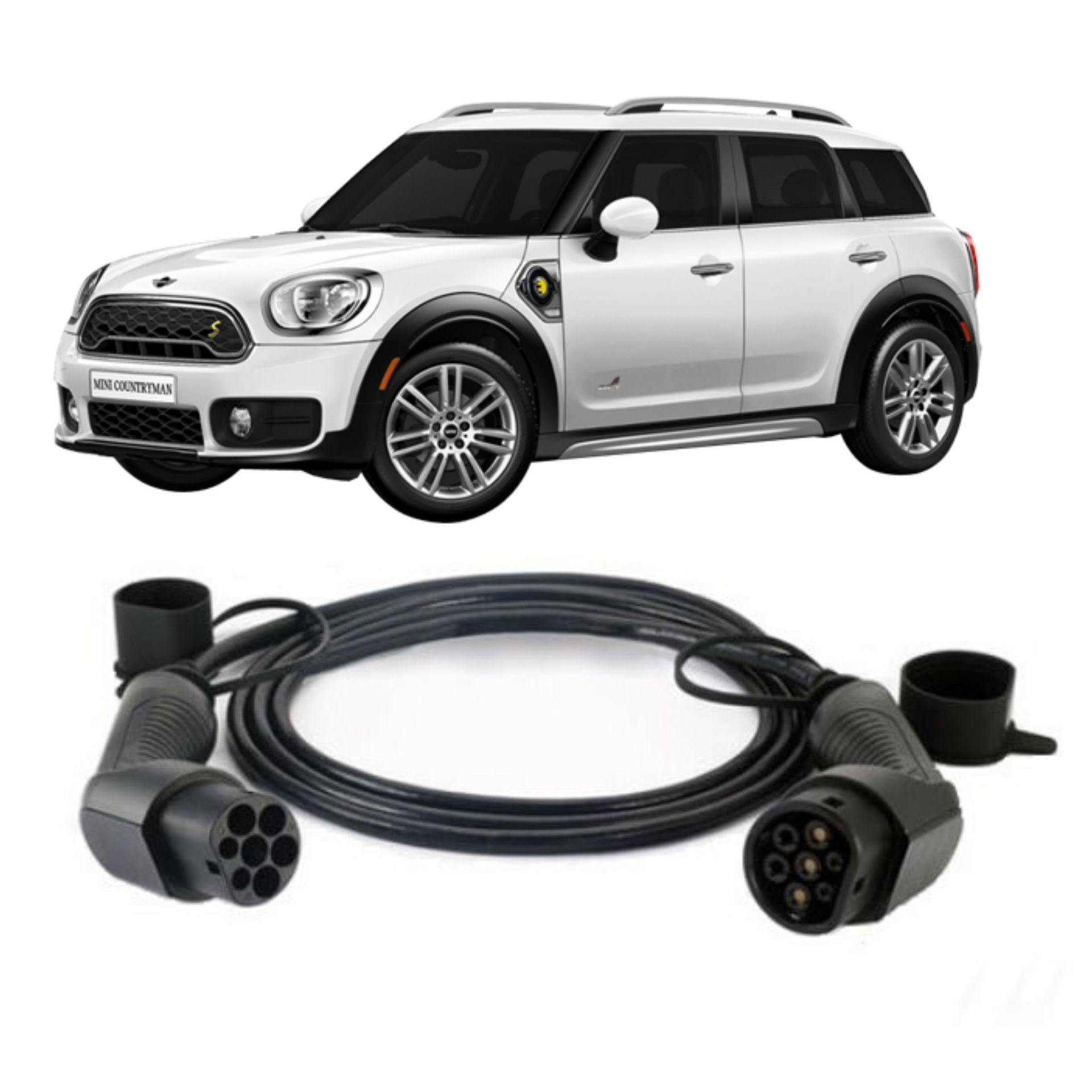 case all4 PHEV fast Charging Cable 32amp 5m Type 2 MINI Countryman SE