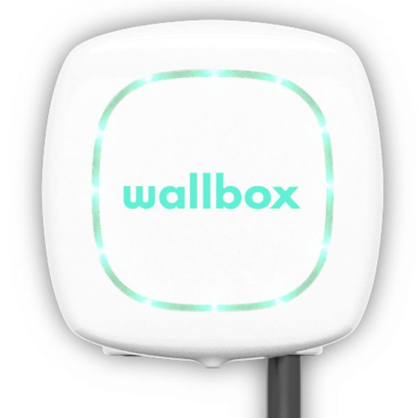 pulsar white 600x600 - Wallbox Pulsar Plus Charging Station - EV Cable Shop