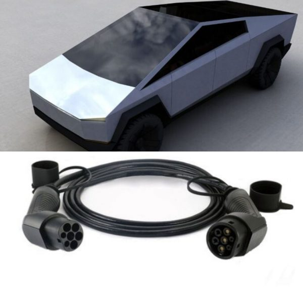 tesla cybertruck 2 600x600 - Tesla Cybertruck Charging Cable (To Be Launched in 2021) - EV Cable Shop